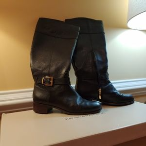 Banana Republic Sloane Black Leather Tall Boots